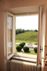 Bedroom with vineyard views